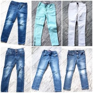 Girls Size 6 6-Piece Jeans Lot